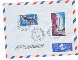 TAAF    22,pa 13 Baleine Bleue Et Télécommunications  Oblitérés Used 1 1 1967 Kerguelen - Storia Postale