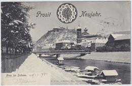 GRAZ - PROSIT NEUJAHR , Austria , Old Postcard , Travelled - Graz