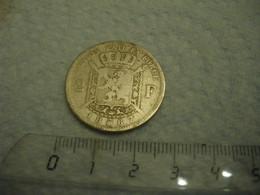BELGIQUE Léopold II Pièce De 2 Francs En Argent 1867 - Type L. WIENER - Poids Hors Emballage : 9 Grammes (2 Photos) - 08. 2 Francs