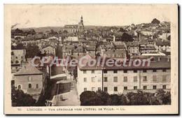 CPA Limoges Vue Generale Vers L'Hotel De Ville - Limoges