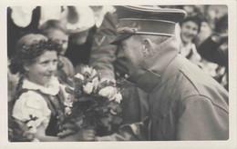 ORIGINAL WW2 PHOTOGRAPH - AH VISITING KARLSBAD - Guerra 1939-45