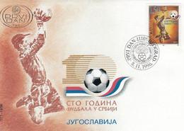 YUGOSLAVIA FDC 2798,football - Covers & Documents