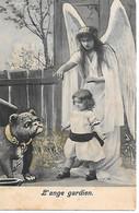 English Bulldog, Bouledogue Anglais, Englische Bulldogge, Ange, Angel, Engel, Child, Enfant,  L'ange Gardien - Cani