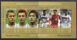 Soccer World Cup 2002 - Sierra Leone - Sheet MNH - 2002 – Corea Del Sur / Japón