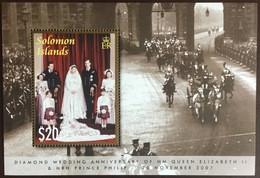 Solomon Islands 2007 Diamond Wedding Minisheet MNH - Solomoneilanden (1978-...)
