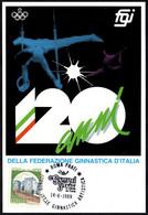 GYMNASTICS - ITALIA ROMA 1989 - TORNEO INTERNAZIONALE GINNASTICA ARTISTICA - CARTOLINA F.G.I. - Gymnastiek