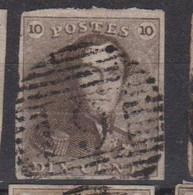 Belgique N°1 10c épaulettes Oblitéré P 9 AUDENAERDE Pour Marges Et Nuances Voir Scan; Supplémentaires Sur Demande - 1849 Mostrine