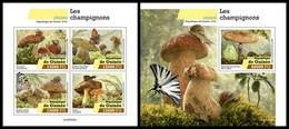 GUINEA 2020 - Mushrooms. M/S + S/S. Official Issue [GU200208] - Champignons