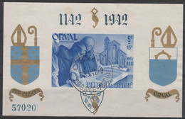 Privé Bloc 21 Orval Caractères Gothiques /Gotische Cijfers Oblit/gestp Centrale - Privé- & Lokale Post
