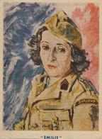 WWII FFI Maquis Emilie  Femme Du Surcouf  Madame Simone Assistance Sociale Resistance Patriotes Fusillés Déportés 1944 - Guerra 1939-45