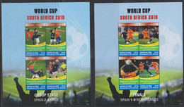Soccer World Cup 2010 - Football - UNION ISLANDS - Set Of 4 Sheets MNH - 2010 – Zuid-Afrika