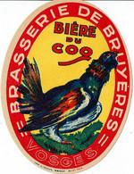 Ancienne étiquette Brasserie De Bruyères 88 - Beer