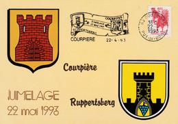 JUMELAGE RUPPERTSBERG-COURPIERE PUY DE DOME 1993 - Cachets Commémoratifs