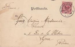 ALSACE CP 1897 MULHAUSEN / 2 / (ELSASS) SUR TIMBRE ALLEMAND  ACTUELLEMENT MULHOUSE HAUT RHIN - 1877-1920: Semi-moderne Periode