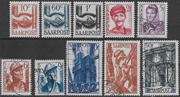 Germania Germany 1948 Saar 10val Mi N.239-242,245-248,250-251 MH/US */US - Ongebruikt