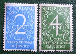 Cour Internationale De Justice NVPH D25-D26 D 25 (Mi 25-26) 1950 Gestempeld / Used NEDERLAND / NIEDERLANDE - Dienstpost