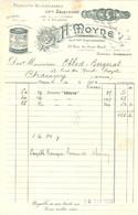 FACTURE 1924 - H. MOYNE Anc. MAISON SANTARSIERO 22 RUE DU PONT NEUF PARIS - TOMATES RÉDUITES DE NAPLES - TOMATE - Alimentare
