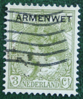 Armenwet 3 Ct NVPH D5 D5 (Mi Dienst 5) 1913 Gestempeld / Used  NEDERLAND / NIEDERLANDE - Dienstpost