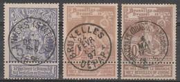 71 /73 Wereld Tentoonstelling /Exposition Internationale Bruxelles Oblit/gestp - 1894-1896 Exhibitions