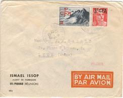 6F GANDON SURCHARGE 3F CFA 5F/20F POINTE DU RAZ TARIF LETTRE AVION POUR LA FRANCE 12/6/49 - Storia Postale