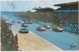 CPSM Automobile Le Mans  (72)  Les 24 Heures  Sur Circuit  Départ De La Course  En 1965    Ed Jipé  Voyagée Cachets - Andere