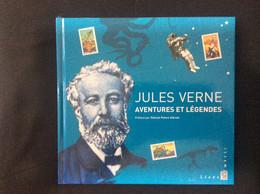 Livre Timbré Jules Verne Aventures Et Légendes Complet Avec Son Bloc Sa Gravure Et Ses 6 Feuillets Gommés Inedits - Postdokumente