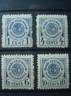 DEN. ANTILLES 1902 Taxes 1/4 MNH** (some Light Defects) - Denmark (West Indies)