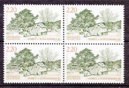 N° 2586 Forêt De Fontainebleau : Bloc De 4 Timbres Neuf Impeccable - Ungebraucht