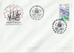 ESPACE ET COMMUNICATION FRANCE-CANADA à SAINT MALO 1991 - Gedenkstempels