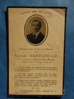 FAIRE PART DECES POILU  MILITAIRE WWI POILU MEUSE GUSSAINVILLE HENNEBELLE 1915 - Documenti