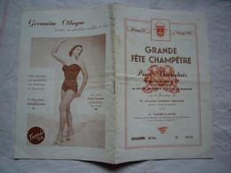 Programme 1954 Fête Champêtre Ville De Bordeaux Sous La Présidence De J. Chaban Delmas - Programmi