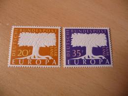 TIMBRES  SARRE    EUROPA   1957   N  384  /  385    COTE  1,75  EUROS  NEUFS  LUXE** - 1957