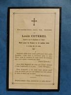 FAIRE PART DECES POILU  MILITAIRE WWI POILU COTEREL CAPORAL 8EME GENIE 1919 - Documenti