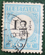 READ Postage Due Timbre-taxe 12½ Cent Type D II Tand. 12½ NVPH PORT 8 P8D 1881-87 Gestempeld /Used NEDERLAND - Impuestos