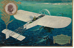 Aviation Publicité LU Lefevre Utile Nantes BLERIOT Traverse La Manche De CALAIS à DOUVRES Gaufrée  ....G - Reclame