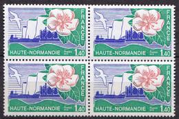 N° 1992 Régions: Haute-Normandie : Bloc De 4 Timbres Neuf Impeccable - Unused Stamps