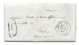 Haute Garonne - St Lys Pour Paris. CàD Type 13 + Taxe Tampon 10. 1837. Indice 8 - 1801-1848: Precursors XIX