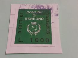 DIRITTO DI SEGRETERIA COMUNE DI SEREGNO LIRE 1000 - Steuermarken