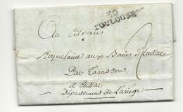 Haute Garonne - Toulouse Pour Les Bains D'Essac Par Tarascon (Ariège). LAC De L'An IX - 1801-1848: Precursors XIX