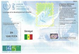 Senegal 2019 Reply Coupon Reponse 145 Ans UPU Hologram Type T37 IRC IAS Antwortschein - WPV (Weltpostverein)