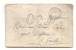 BESSEGES - BOITE MOBILE. Lettre Taxée 30. Pas Courant. Cote 190e - 1849-1876: Classic Period