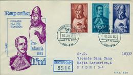 IFNI , ED.  187 / 189 - PRO INFANCIA 1962 , SOBRE DE PRIMER DIA CIRCULADO , LLEGADA AL DORSO - Ifni