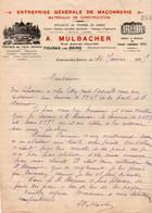 17 FOURAS-LES-BAINS A MULBACHER ENTREPRISE GENERALE DE MACONNERIE - 1900 – 1949