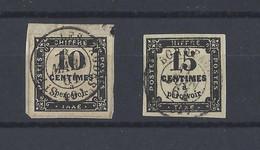 FRANCE.  YT   Taxes N° 2-3  Obl  1859 - 1859-1955 Used