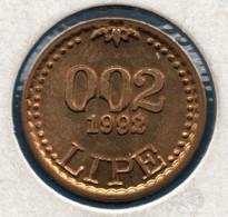 REPUBLIKA SLOVENIJA 0.02 LIPE 1992 X# Tn5  Lipa Holding Ljubljana Series - Eslovenia