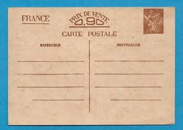 Entier Postal Iris Avec Impression Défectueuse - Neuf  // WW2 - Pour Correspondance Famililale - 1921-1960: Modern Period