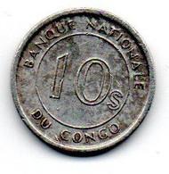 Congo - 10 Sengi 1967 - TTB - Congo (Republic 1960)