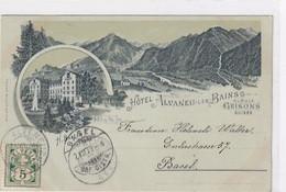 Alvaneu-Bad - Werbekarte - Vorläuferlitho - 1899 - Top        (P-290-00814) - GR Grisons