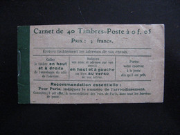 R. Et TB Carnet 137 C9  . Neuf XX. - Definitives