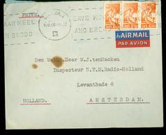 AIRMAIL * BRIEFOMSLAG Uit 1946 Uit DURBAN ZUID AFRIKA   Naar AMSTERDAM  (11.875s) - Posta Aerea